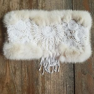 J. Mendel Paris Fur Clutch